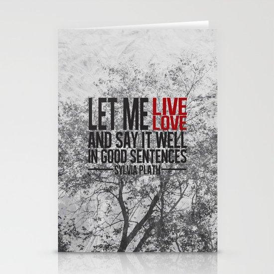 let me live. Stationery Cards