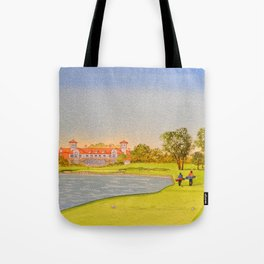TPC Sawgrass Golf Course 18th Hole And Clubhouse Tote Bag