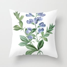 HIGHEST QUALITY botanical poster of Baptisia Australis Throw Pillow