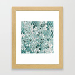Mermaid Glitter Scales #3 #shiny #decor #art #society6 Framed Art Print