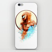 spider man iPhone & iPod Skins featuring Spider-Man by Rene Alberto