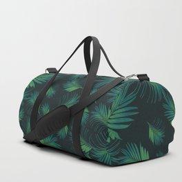 Tropical Night Palms Pattern #1 #tropical #decor #art #society6 Duffle Bag