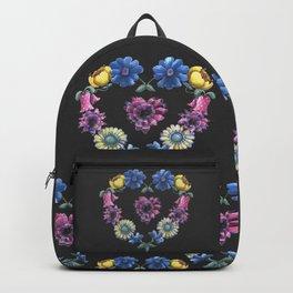 Lovely Flowers Black Backpack