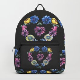 Lovely Flowers Black Backpack