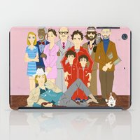 royal tenenbaums iPad Cases featuring Royal Tenenbaums Family Portrait  by AnaMF