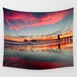 Huntington Beach Sunsets  8/5/15  Wall Tapestry