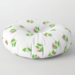 Hand painted pink green watercolor hand painted floral Floor Pillow