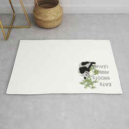 Eats, Shoots and Leaves Rug
