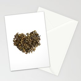 Dried and curled leaves of Oolong Stationery Cards