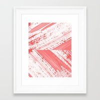 coral Framed Art Prints featuring CORAL by LEEMO