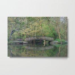 Footbridge Reflections Metal Print