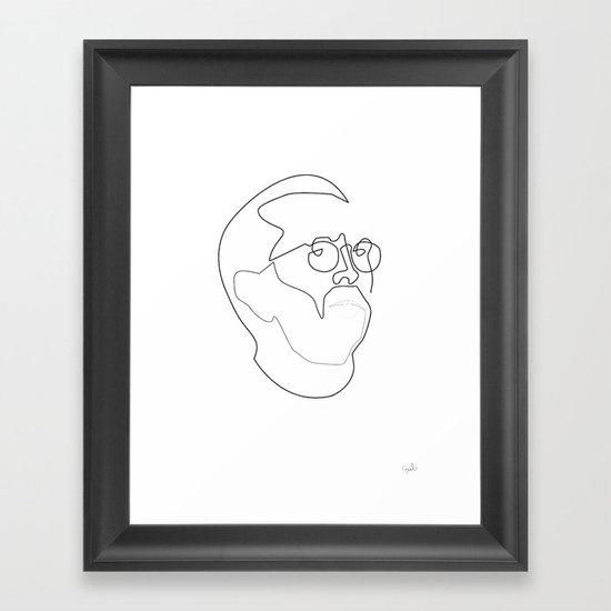 One line Eric Clapton Framed Art Print