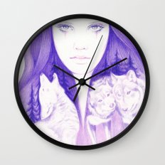 Wolf Spirit Wall Clock