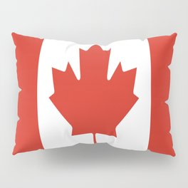 red maple leaf flag of Canada Pillow Sham