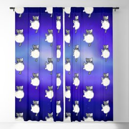 Moon Cat Blackout Curtain