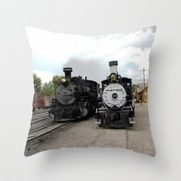 In the Passing Lane at Chama Depot Throw Pillow