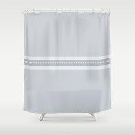 Ribbon 2 Grey Shower Curtain