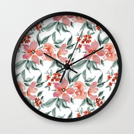 Loose Floral Pattern Wall Clock