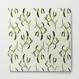 Merry Mistletoe Metal Print