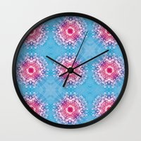 diamonds Wall Clocks featuring Diamonds by ARTDROID