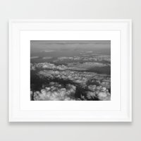 cloud Framed Art Prints featuring cloud by habish