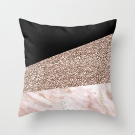 Black Forest Marble Throw Pillow