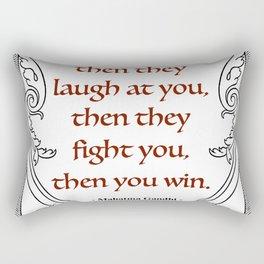 Mahatma Gandhi Aphorism, Words of Wisdom Rectangular Pillow