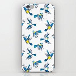 Flying Blue Tit / Bird Pattern iPhone Skin