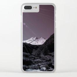 Mt Ruapehu Clear iPhone Case