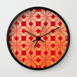 Fire Snow, Snowflakes #03 Wall Clock