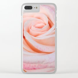Pink Rose close up Clear iPhone Case