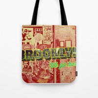 brooklyn Tote Bags featuring Brooklyn by nicole martinez