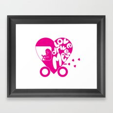 Love Drives Me Framed Art Print