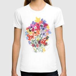 Bright Wildflower Field T-shirt