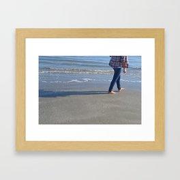 Lets take a walk Framed Art Print