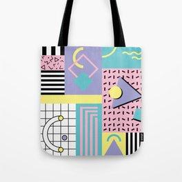 Memphis Pattern 27 - 80s - 90s Retro / 1st year anniversary design Tote Bag