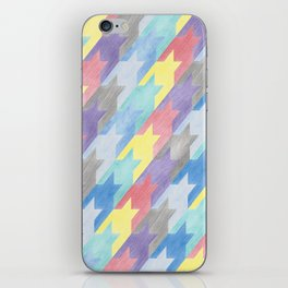 Multicoloured Houndstooth iPhone Skin