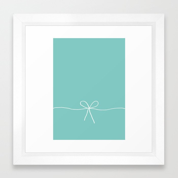 Tiffany Blue With a Bow Framed Art Print by electricavenue | Society6