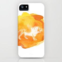 Color Spot Safari Lion iPhone Case
