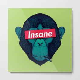 Insane monkey Metal Print