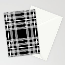 Black and White Plaid Stationery Cards