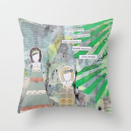 She is Delightfully Chaotic Throw Pillow