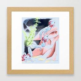 Jonathon salamander Framed Art Print