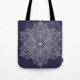 Spring Garden Mandala Ultra Violet Tote Bag