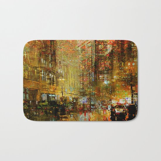 An evening in Detroit Bath Mat