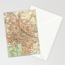 Vintage Map of Hanover Germany (1895) Stationery Cards