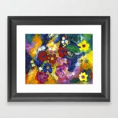 Bright Flowers Framed Art Print