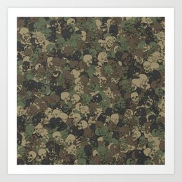 Skull camouflage Art Print