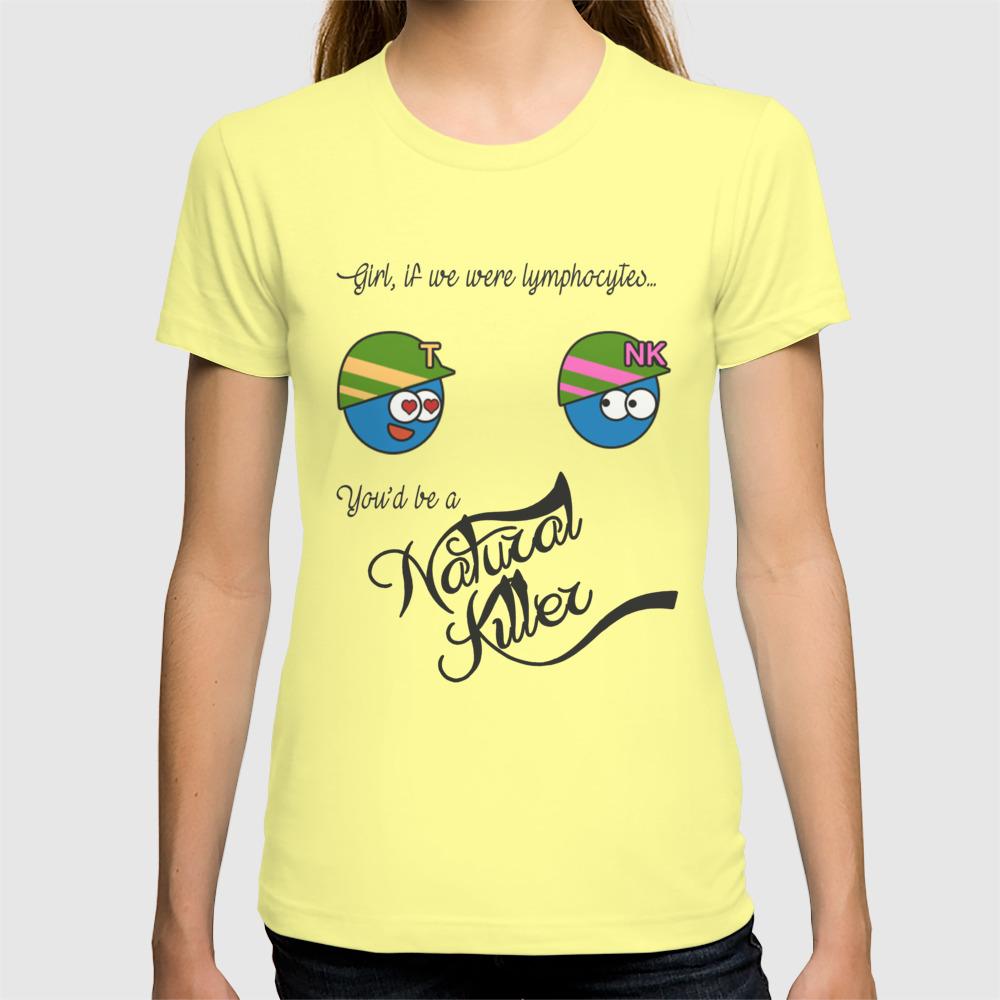 88fb78e5 Natural Killer Cell and T lymphocyte T-shirt by nakeya52 | Society6