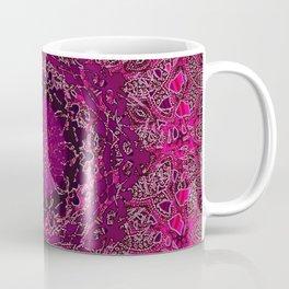 Raspberry Wisteria Mandala Coffee Mug